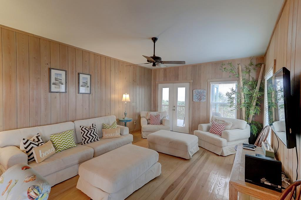 Living Room with Deck Access & Ocean Views