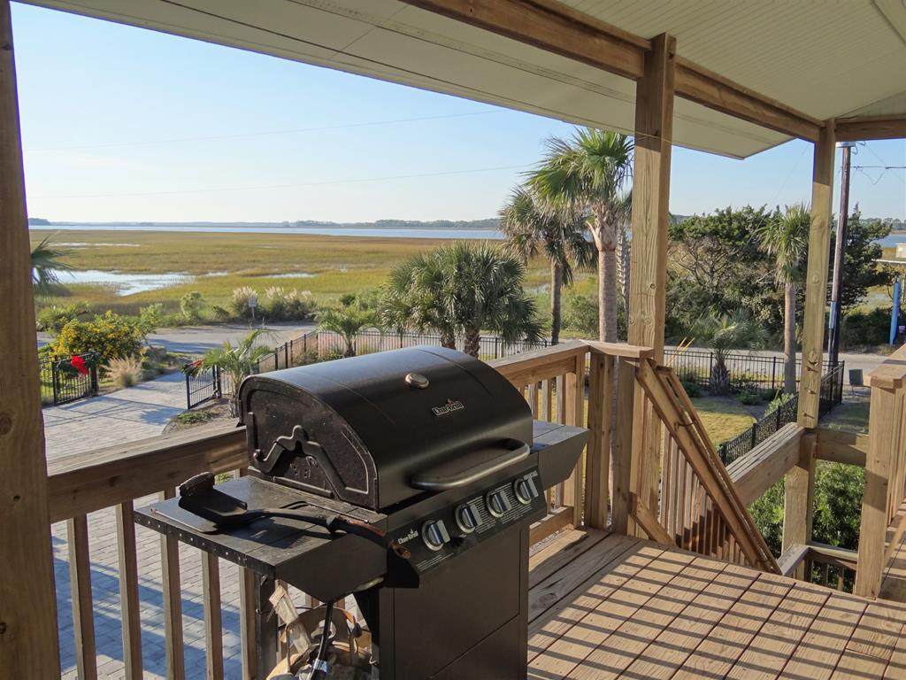 Gas Grill With A River View