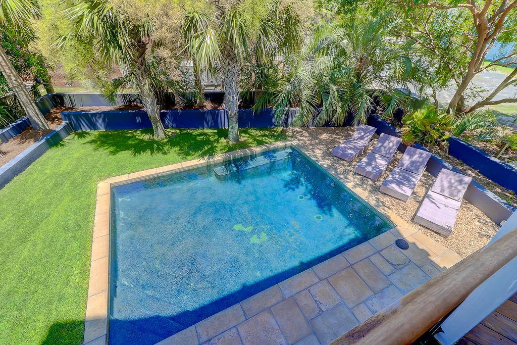 Pool View from 1st floor master deck