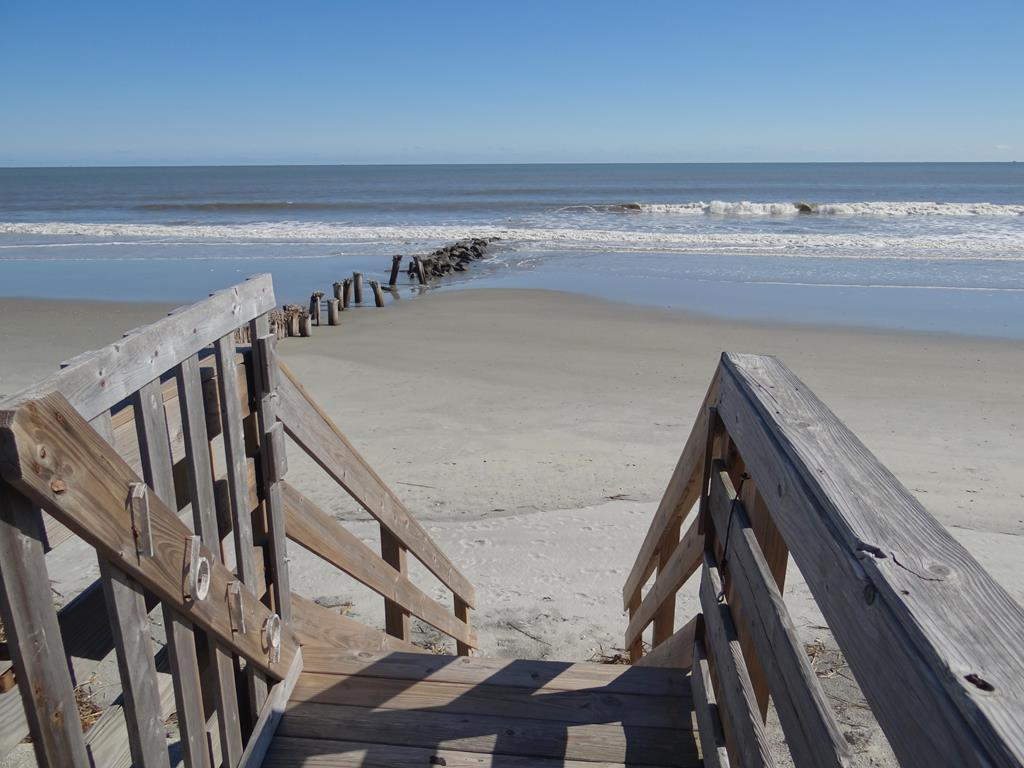 Direct Stairs Into The Sand