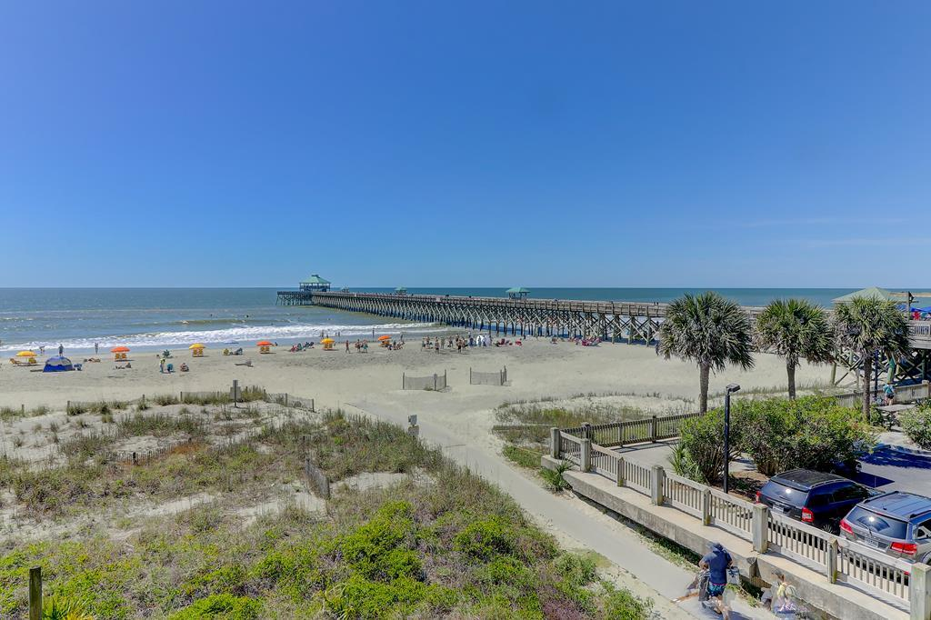 Oceanfront & View of Folly Beach Pier