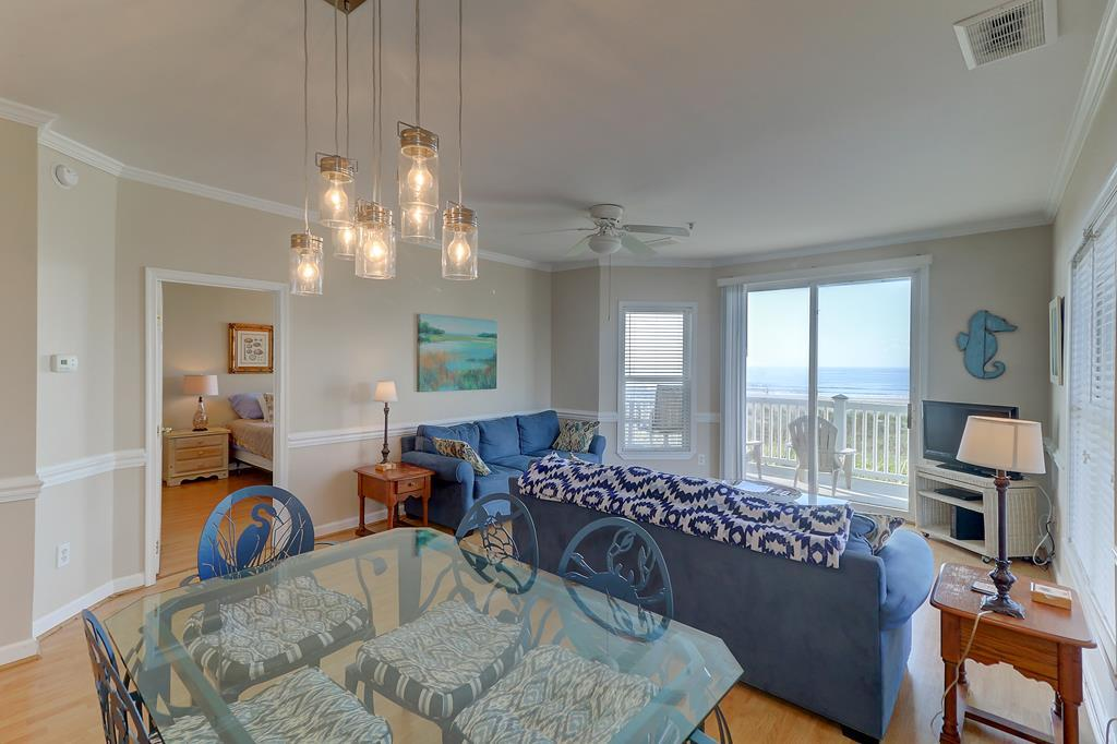 Ocean View Living Room & Dining Area