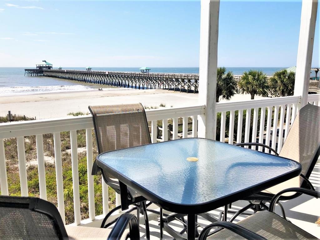 View of Folly Beach Pier, Close to Town