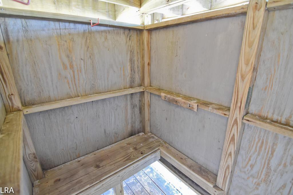 Enclosed Outdoor Shower - under the house