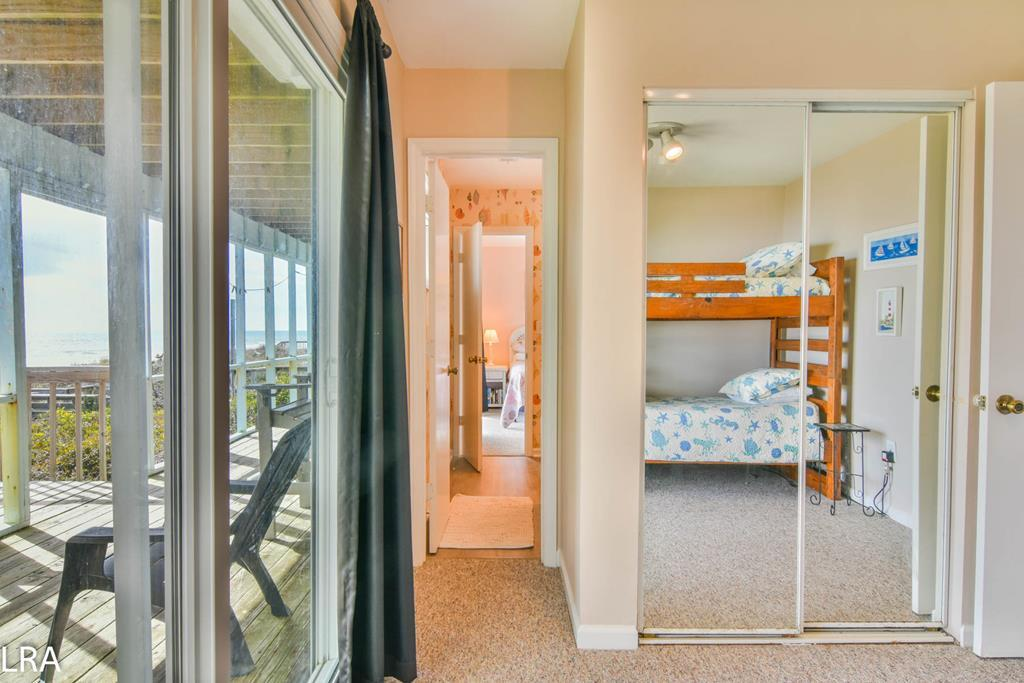 Bunkbeds / View Into Shared Bathroom