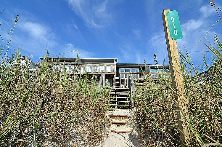 Beach view of building 910