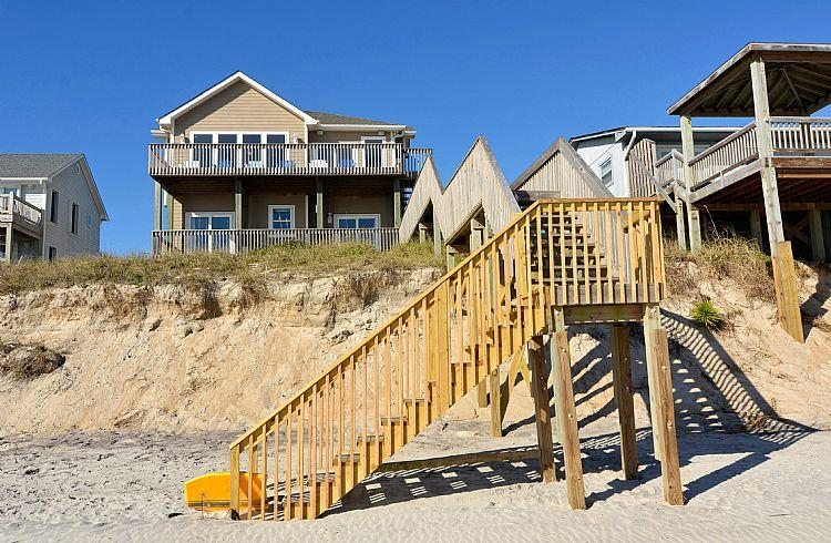 Beach view of house
